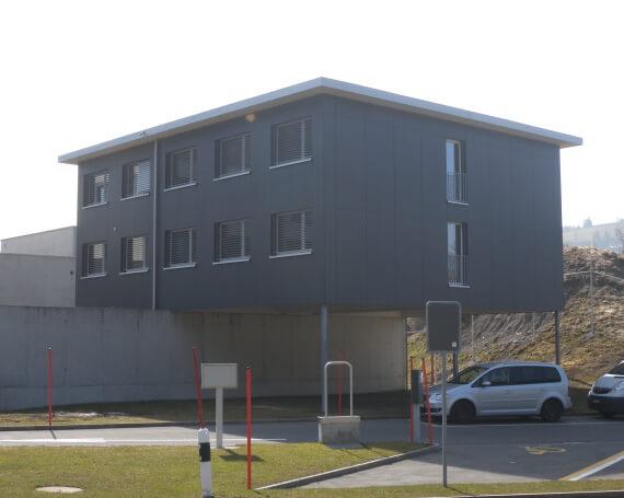 Neubau Büroprovisorium Sicherheitsstützpunkt Biberbrugg in Bennau
