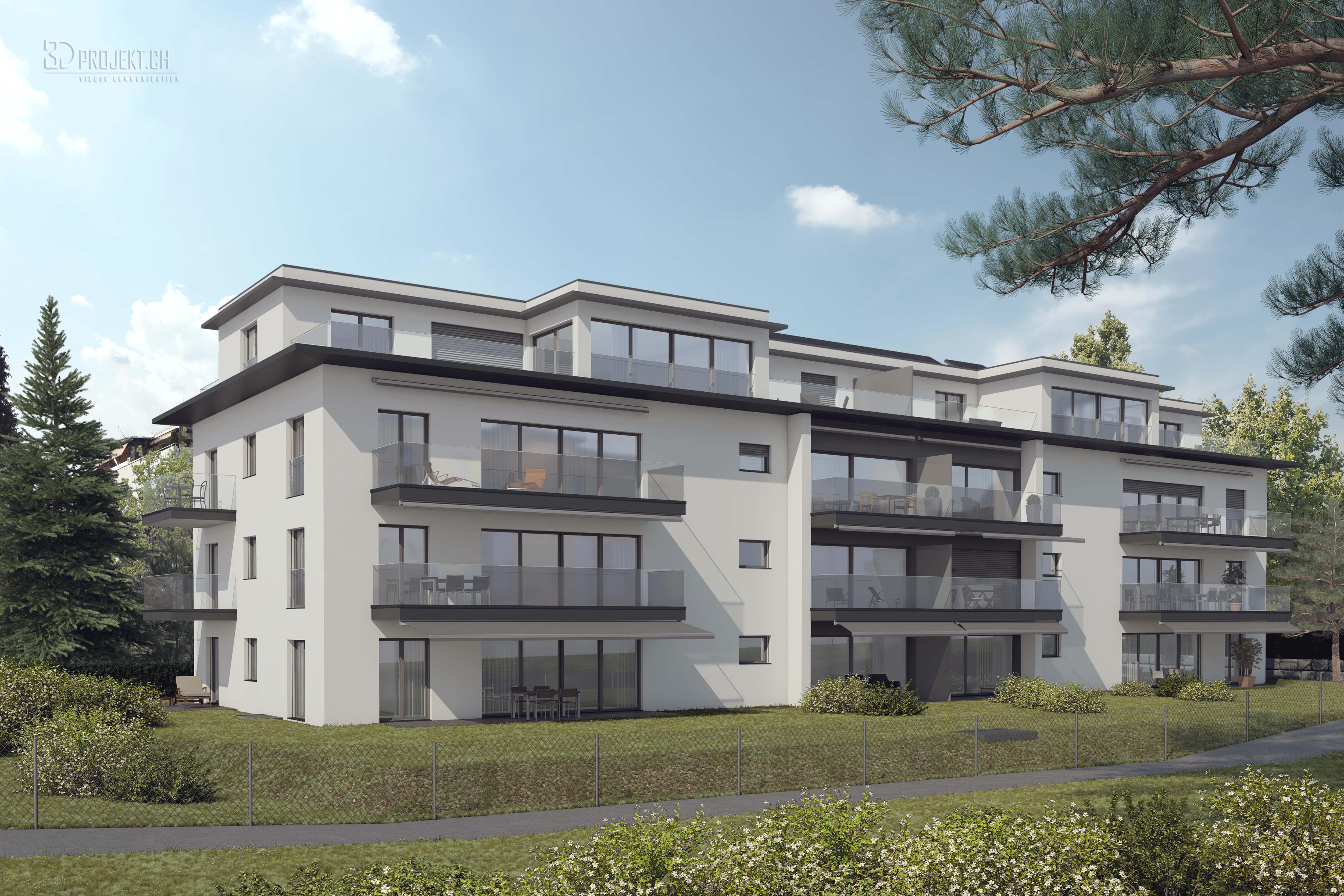 Neubau mehrfamilienhaus an der alten zihlstrasse in hinwil for Mehrfamilienhaus neubau
