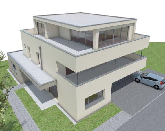 Neubau Doppel-Einfamilienhaus an der Kiebitzstrasse in Jona