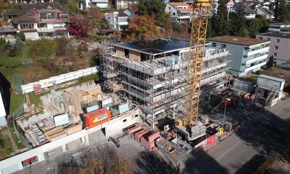 Neubau MFH an der Belsitostrasse in Jona – Impressionen