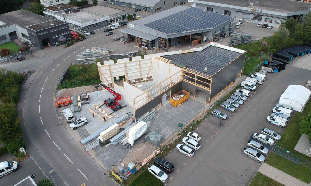 Neubau Gewerbehalle Buechstrasse in Jona – Impressionen